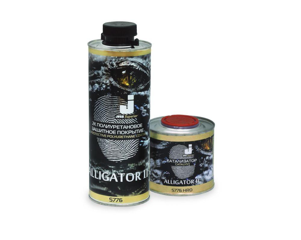 Jeta Alligator II - 2К покрытие на полиуретановой основе для защиты поверхности, колеруемое, 800мл. + 200мл.
