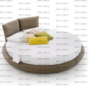 Круглая кровать Солей Letto