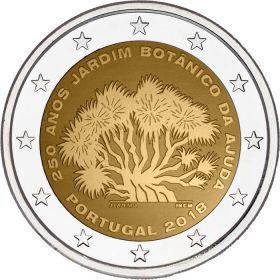 250 лет Ботаническому саду Ажуда 2 евро Португалия 2018