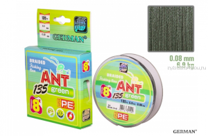 Плетеная леска German ANT Green x8 135 м