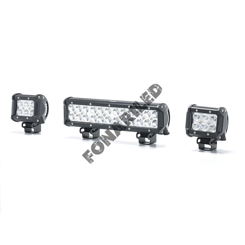 Комплект светодиодных фар на квадроцикл 108W (проводка, кнопка вкл/выкл).