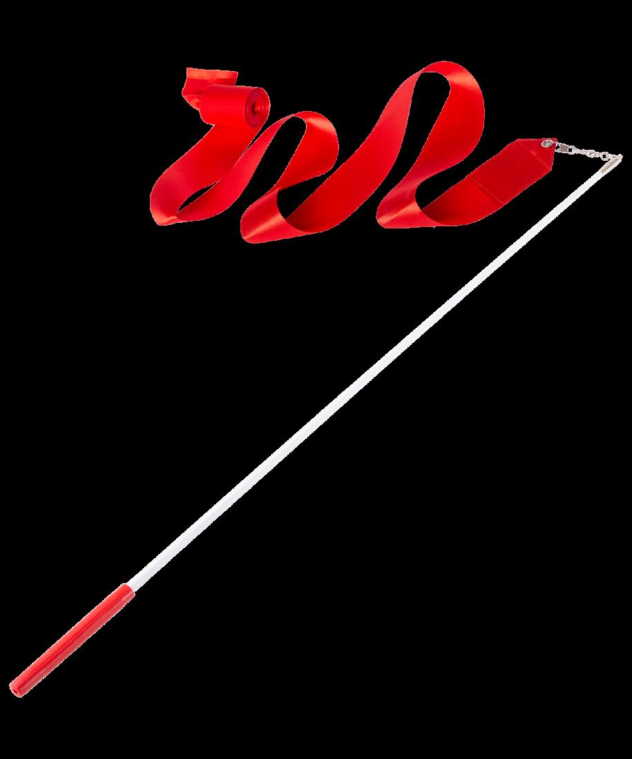 Лента для художественной гимнастики AGR-201 4м, с палочкой 46 см, красный
