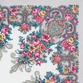 Платок павлопосадский 125*125 см Рококо [01]