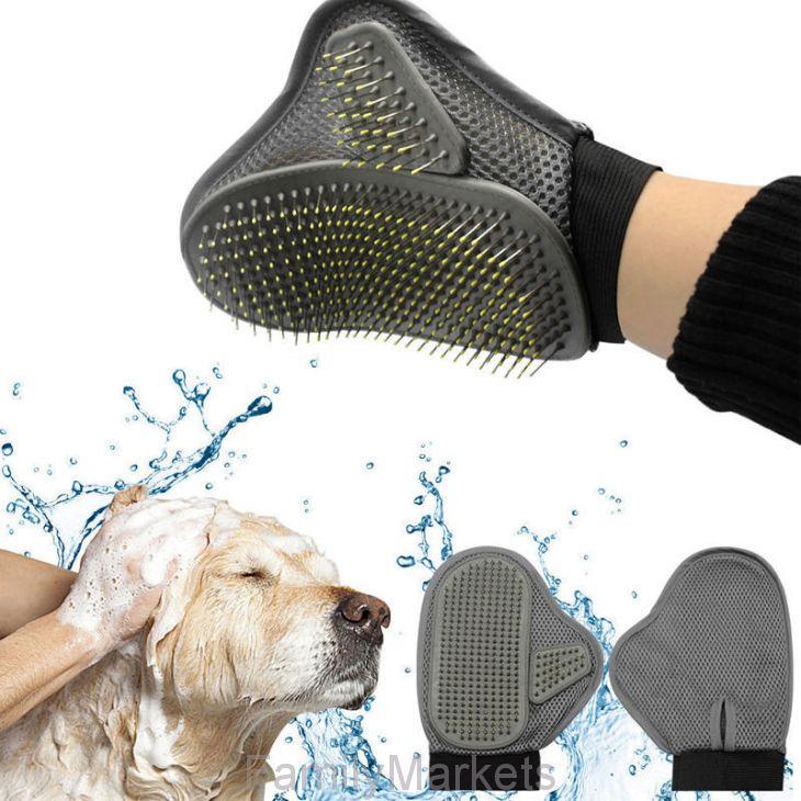 Массажная рукавица-щётка для собак