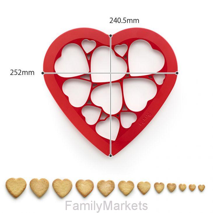 Форма для выпечки печенья СЕРДЕЧКИ