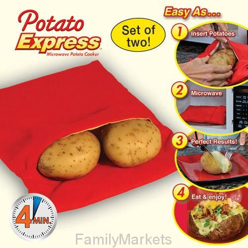 Мешочек для запекания Potato Express ПОТАТО ЭКСПРЕСС) для приготовления картофеля в микроволновке