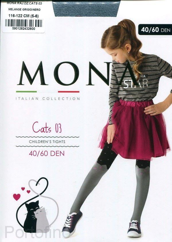 "Mona детские колготки CATS 03"" 40/60den 3D"