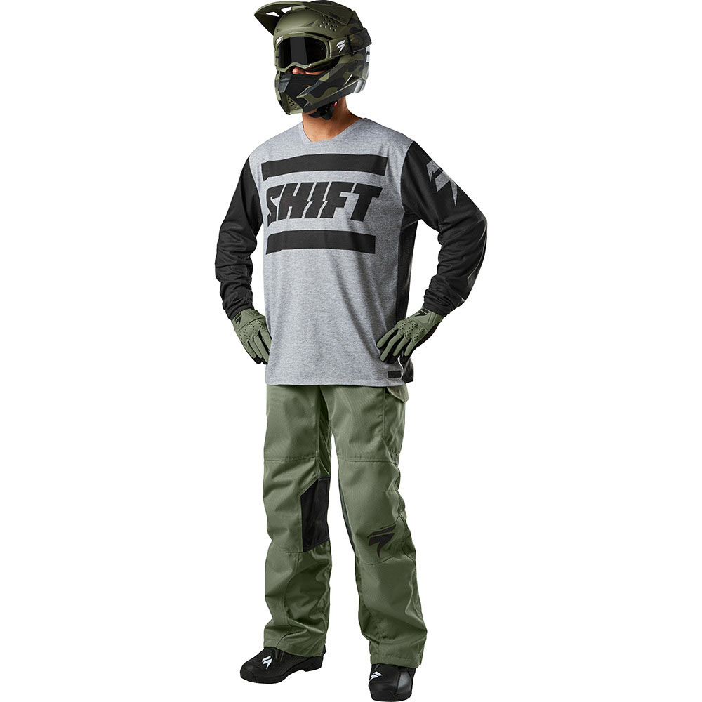 Shift - 2018 R3Con Drift Strike комплект джерси и штаны, серо-зеленый