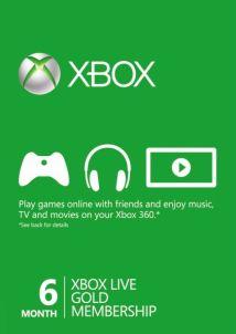 Подписка XBOX Live Gold 6 месяцев