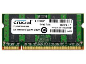 Модуль памяти DDR2 2Gb 800 Mhz Crucial CT25664AC800  PC2-6400