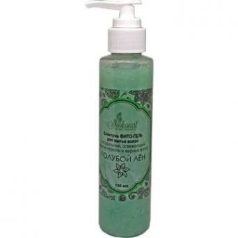 Шампунь ФИТО-ГЕЛЬ для мытья жирных и нормальных волос освежающий, от перхоти «Голубой лён» (Код 56621 - объем 150 мл)