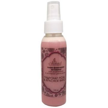 Тоник-флютаурин активатор для укрепления  и усиления роста волос «ГИДРОЛАТ РОЗЫ & КРАСНОЕ ВИНО» (Код 560561 - объем 100 мл)