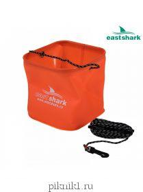 Eastshark Ведро D 24 квадратное оранжевое для замеса прикормки