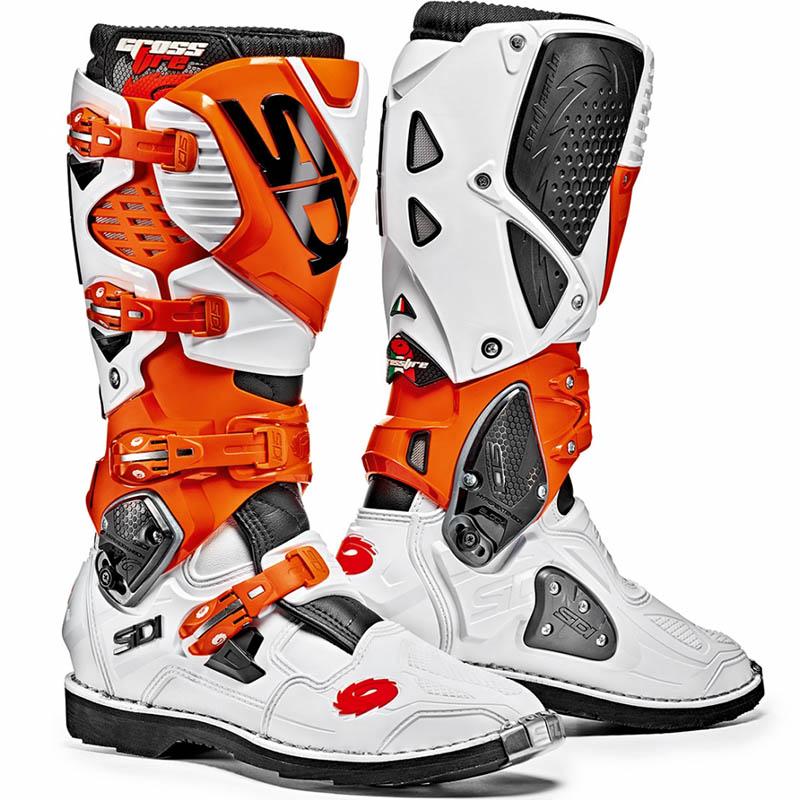 Sidi - Crossfire 3 White/Orange/Black мотоботы, бело-оранжево-черные