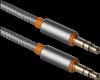 Аудио-кабель JACK01-03 Серый JACK M- JACK M, 1,2м