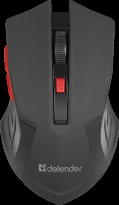 Беспроводная оптическая мышь Accura MM-275 красный,6 кнопок, 800-1600 dpi