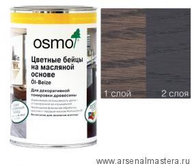Цветные бейцы на масляной основе для тонирования деревянных полов Osmo Ol-Beize 3514 Графит 1 л