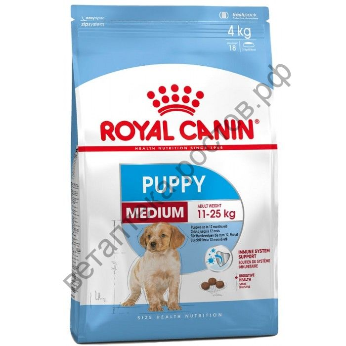 Royal Canin для щенков Medium Puupy