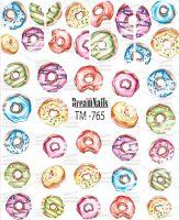 Слайдер-дизайн «Пончики» TM-765 Dream Nails (водные наклейки)