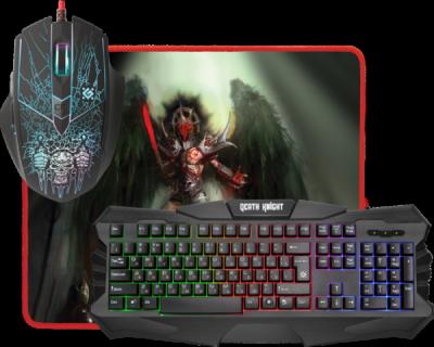НОВИНКА. Игровой набор Death Knight MKP-007 RU, мышь+клавиатура+ковер