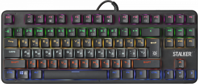 Механическая клавиатура Stalker GK-170L RU,подсветка,Full Anti-Ghost