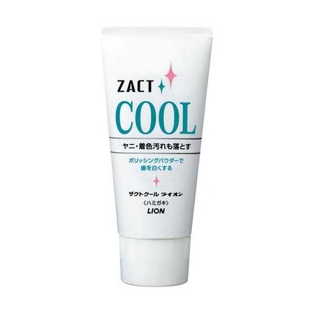 LION Зубная паста с освежающим и отбеливающим эффектом для курящих Zact Cool, 130 г