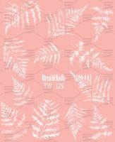 Слайдер-дизайн «Папоротник» TW - 329 Dream Nails (водные наклейки)