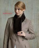 Меховой норковый шарф