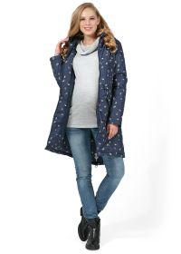 """Куртка демис. 2в1 """"Мэрил"""" для беременных; цвет: синий в цветочек"""