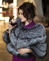 Меховая накидка из чернобурки купить в москве фото