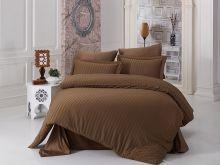 """Комплект постельного белья Бамбук """"KARNA""""  PERLA евро (коричневый)  Арт.814-1"""