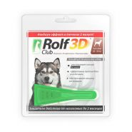 RolfClub 3D Капли от клещей и блох для собак от 20 до 40 кг
