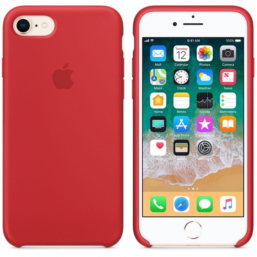 Чехол Silicon Case для iPhone 7 красный