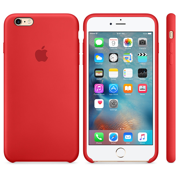 Чехол Silicon Case для iPhone 6S Plus красный