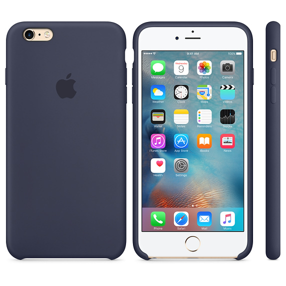 Чехол Silicon Case для iPhone 6 Plus/6S Plus темно-синий