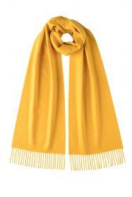 однотонный кашемировый шарф (100% драгоценный кашемир), Жёлтый  цвет, высокая плотность 7