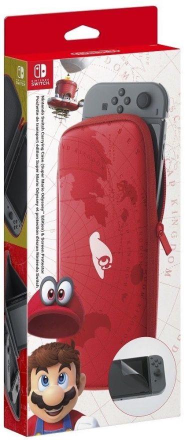 Чехол Mario Odyssey + Защитная плёнка (Nintendo Switch)