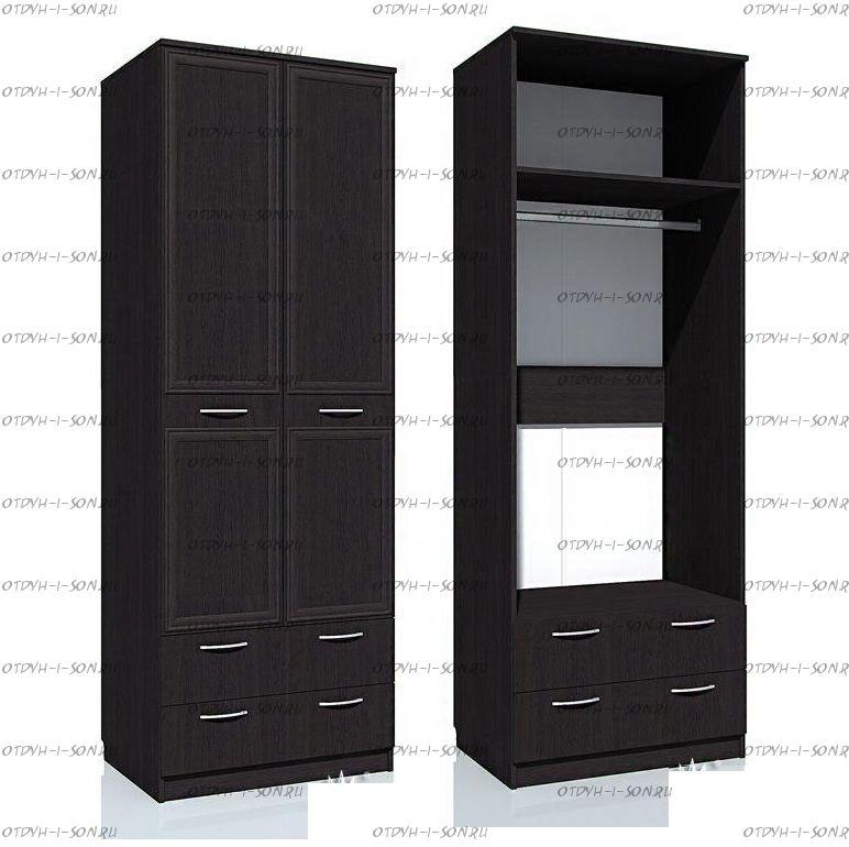 Шкаф двухдверный с ящиками Браво НМ 013.02-03 (80х57х226)