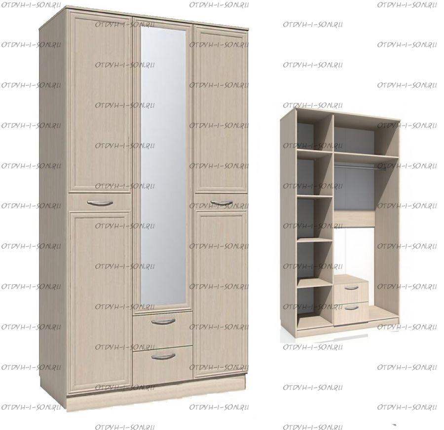Шкаф трехдверный Браво НМ 013.08-01 (120х57х226)