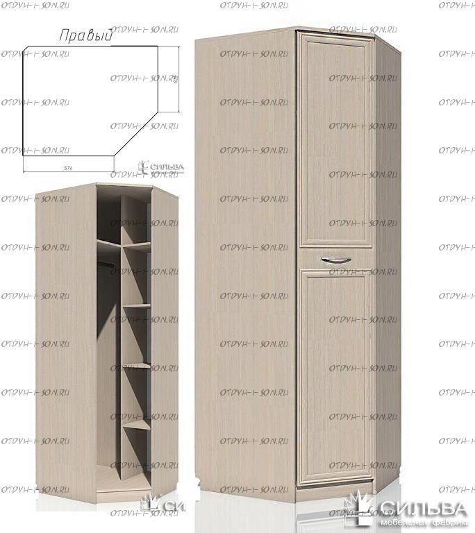 Шкаф угловой Браво НМ 013.04-02ПР / НМ 013.04-02ЛВ (120х57х226)