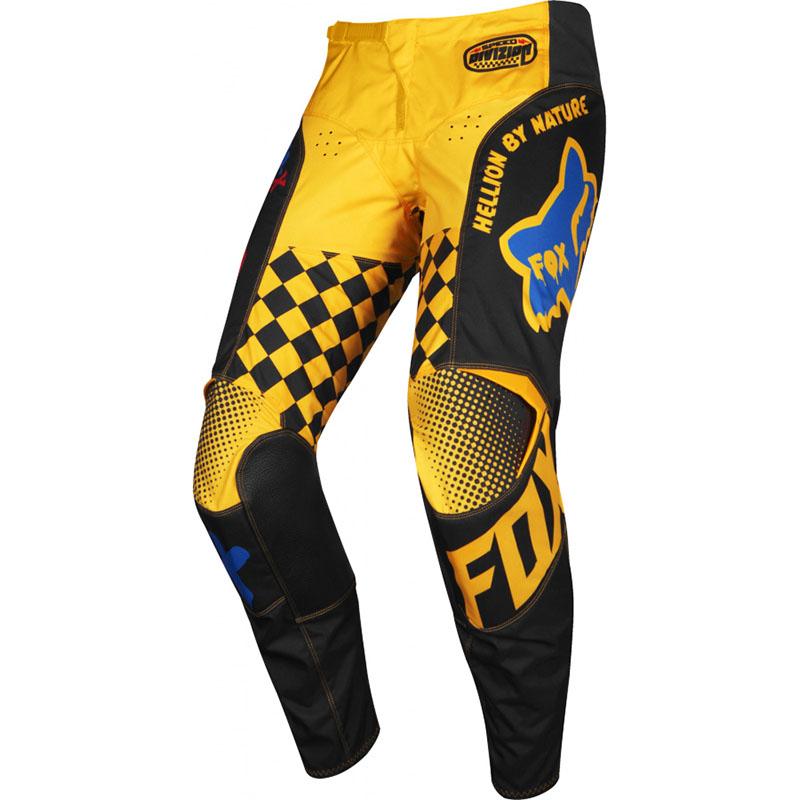 Fox - 2019 180 Kids Czar Black/Yellow штаны детские, черно-желтые