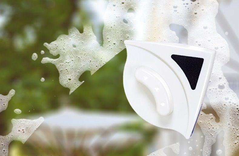 Магнитная щетка для мытья окон с двух сторон (стеклопакет стекло 24 мм)