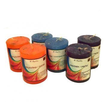 Чакровая свеча Сахасрара/Счастье (фиолетовая)