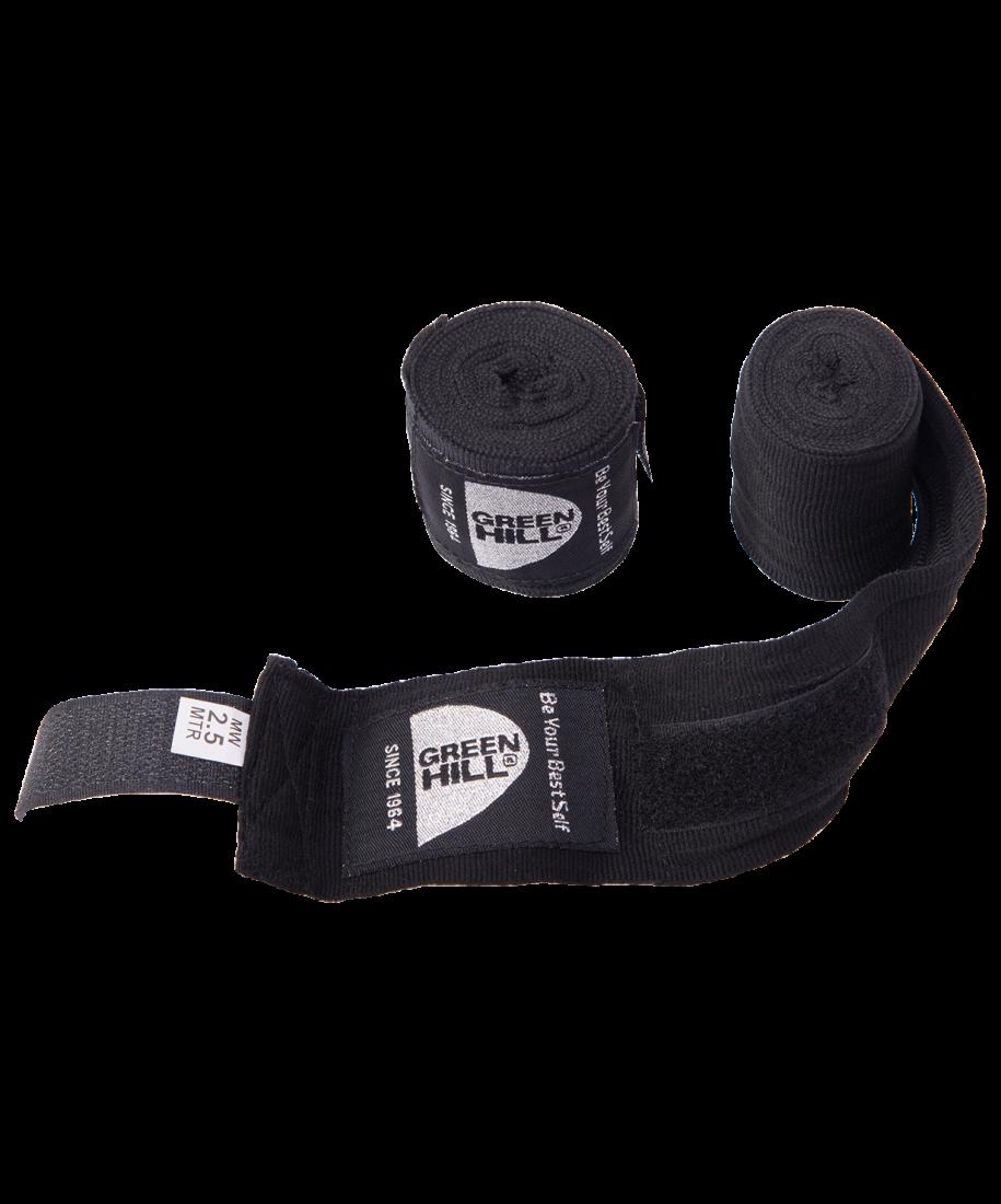 Бинт боксерский BP-6232a, 2,5м, эластик, черный
