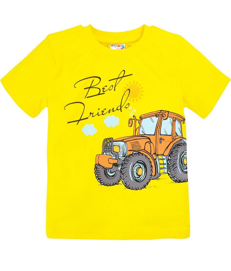 Футболка для мальчика 2 лет желтого цвета