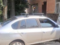 Багажник на крышу Renault Symbol, Атлант, крыловидные аэродуги