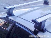 Багажник на крышу Kia Rio 3 (c 2011г, sedan / hatchback), Lux, крыловидные дуги