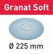 Шлифовальный материал FESTOOL Granat Soft STF D225 P180 GR S/25 25 шт в упаковке 204225