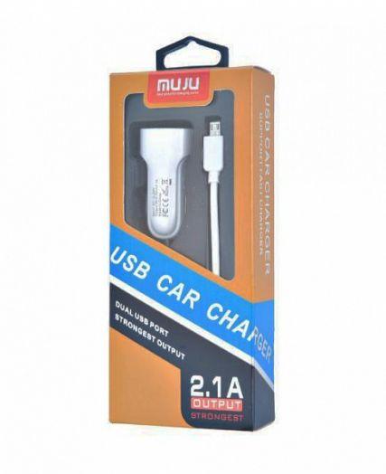 ЗУ в прикуриватель на 2 гнезда USB + кабель MUJU MJ-C03 *