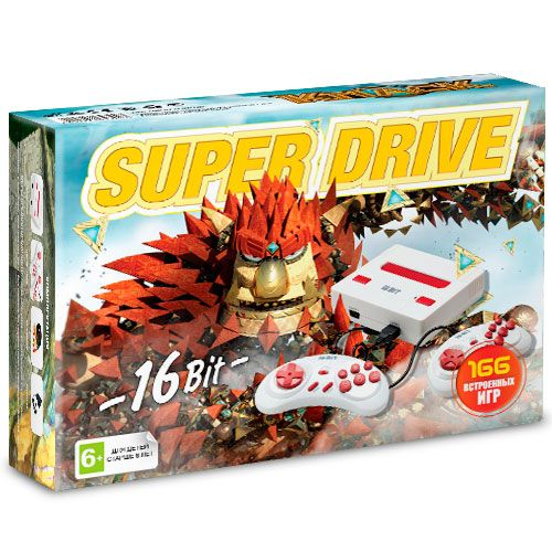 Sega Super Drive Knack (166-in-1) White